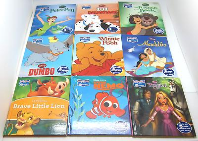 9 Story Reader Me Reader Disney Books Only Tangled Jungle Peter Pan Winnie More Ebay