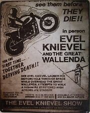 """Evil Knievel Advertising Metal Sign ( 15"""" by 12"""")"""