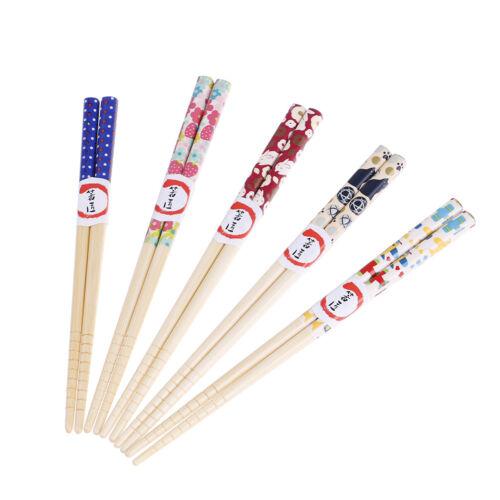 Japanese cartoon children wood chopsticks handmade kitchen utensils tableware US