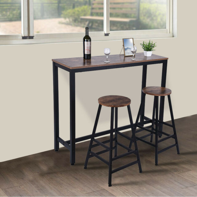 1 Piece Pub Bar Table Kitchen Dining Furniture Counter Height Brown Us