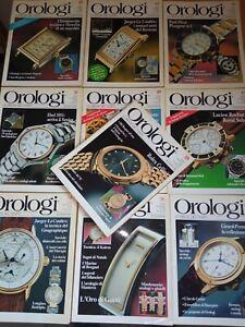 Orologi Vintage Le misure del tempo 1990 1991 LOTTO 10 RIVISTE FOTOGRAFICHE