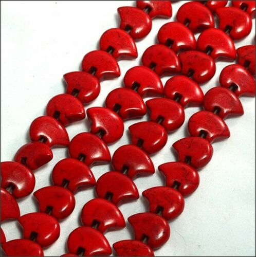5 Dyed Red Dyed Magnesite Zuni Bears
