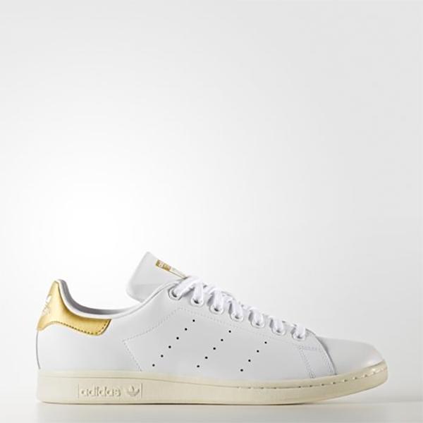New Adidas Original Womens Stan Smith AQ0439 WHITE / GOLD US W 5.5 - 8.0 TAKSE