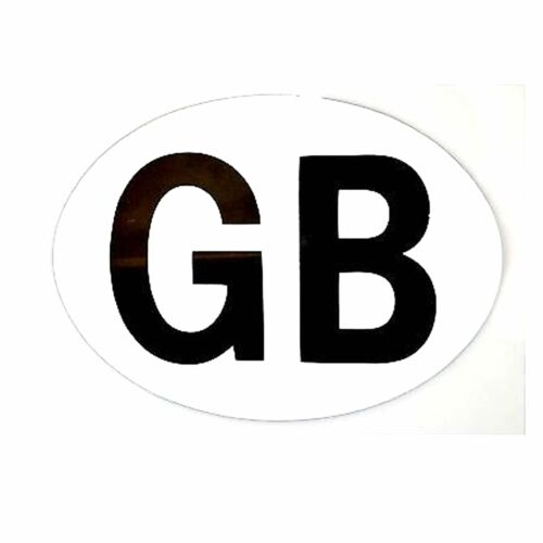 Great Britain GB Magnetic White Sticker Plate Travelling EU European Car Caravan