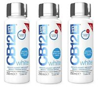 3 X Cb12 White Mouthwash 250ml Whitening Effect After 2 Weeks & Fresh Breath