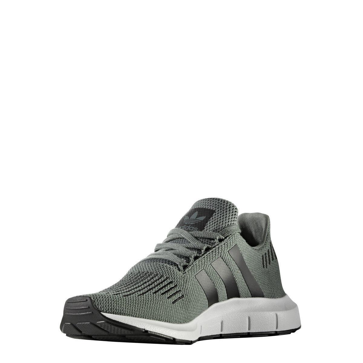 New adidas swift run mens shoes cg4115 cargo green metallic Knit running sneaker