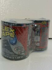 Flex Tape Strong Rubberized Waterproof Tape 4 X 5 Black 2 Pack New