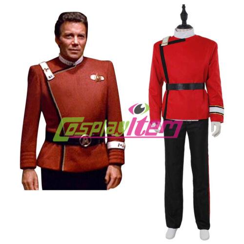 Star Trek II-VI Wrath of Khan Starfleet Cosplay Costume Adult Halloween Costume