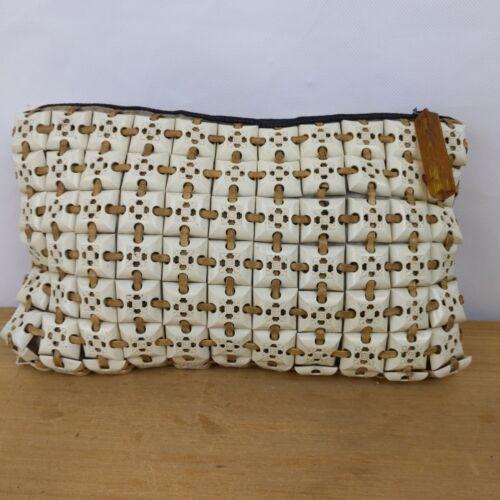 PlasticFlex Purse Vintage 1940s Plastic Tile Bag … - image 1