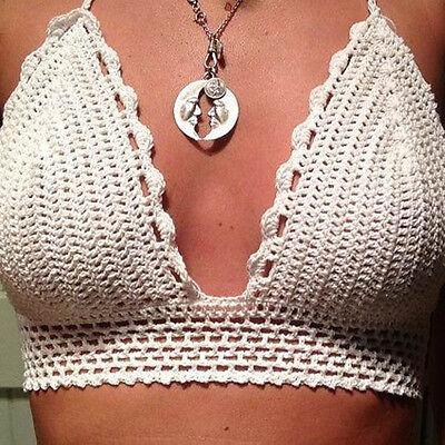 Women Handmade Swimwear Crochet Beach Swimsuit Knitted Bikini Tank Vest Hottest