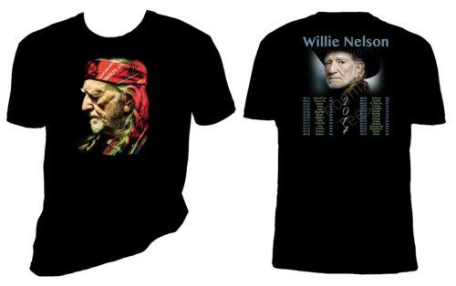 Willie Nelson 2017 Concert t shirt Short or Long Sleeve Sizes S-6X
