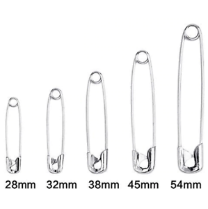 Lot-de-20-a-100-epingles-a-nourrice-surete-28-a-54mm-Alliage-de-Zinc-Argentes