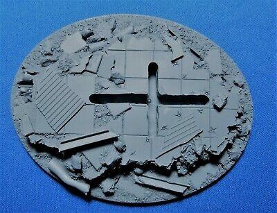 Warhammer 40k Elrik's Hobbies Terrain City Ruins 120x92mm Flying Base Alta Calidad Y Barato