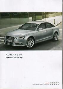 AUDI-S4-A4-Betriebsanleitung-2012-B8-Bedienungsanleitung-Handbuch-Bordbuch-BA