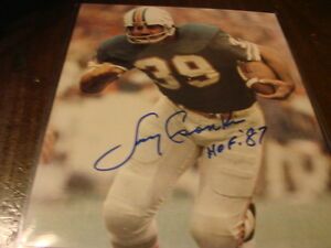 4a436e77202 Larry Csonka Autograph   Signed 8 x 10 photo Miami Dolphins