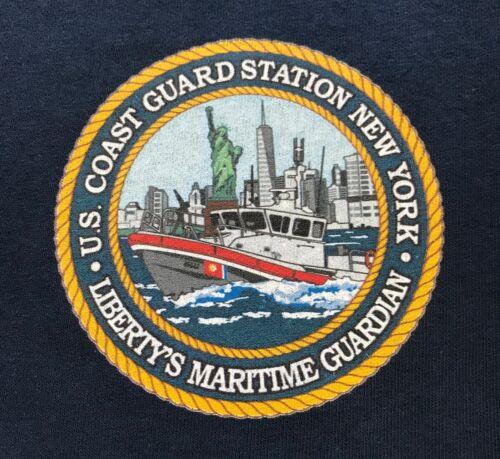 USCG US Coast Guard Station New York Navy Blue Short Sleeve MORALE T-Shirt