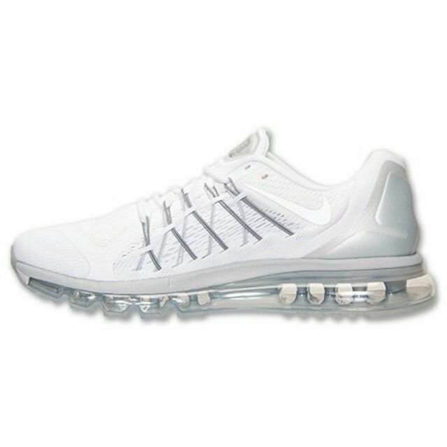 Size 11 - Nike Air Max 2015 White Metallic Silver for sale online ...