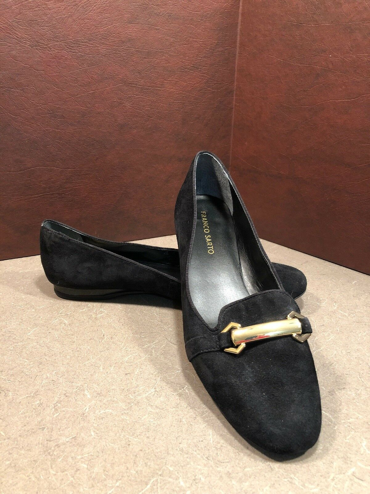 FRANCO SARTO Leather Slip On loafer Flats SZ 9.5 M Gerry 6 Black EUC