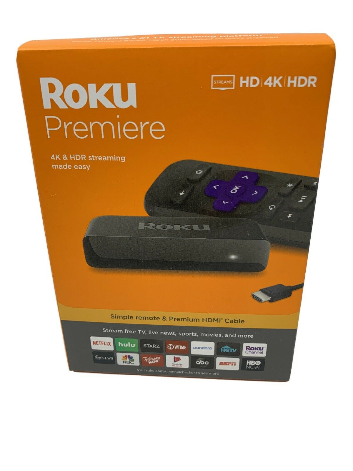 Roku Premiere 3920R 4K Streaming Media Player - Black - New - USA SELLER 3920r black media new player premiere roku seller streaming usa