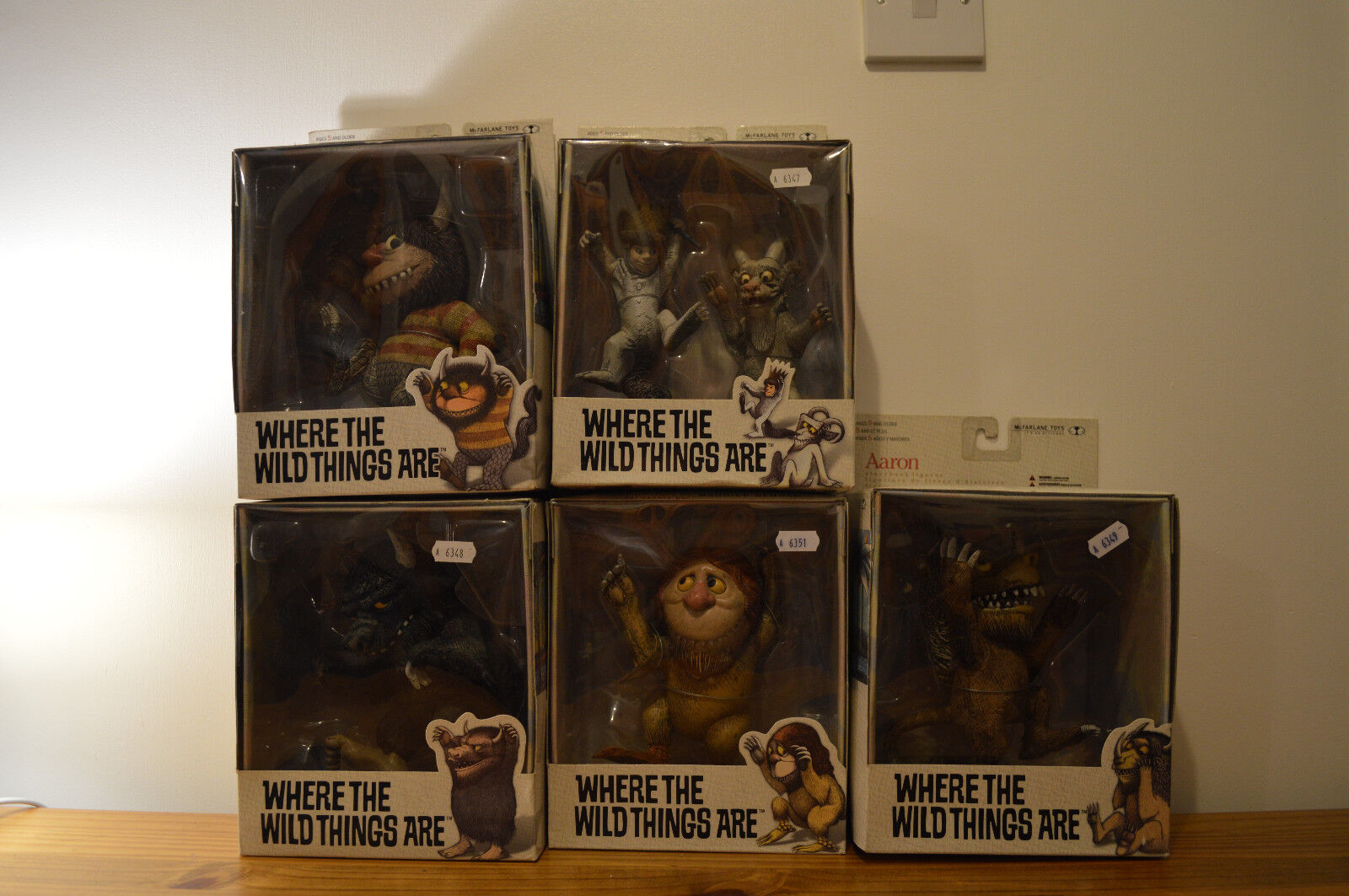 WHERE THE WILD THINGS ARE 6 Action Figures McFarlane Toys (New & Boxed)