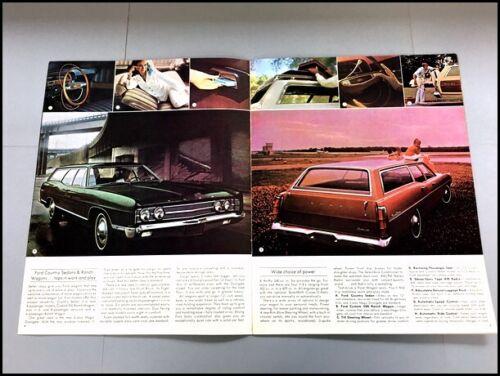 LTD Torino Falcon Country Squire 1969 Ford Wagon 12-page Car Sales Brochure