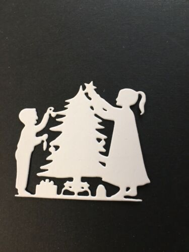 Christmas kids die cuts for cards or scrapbook 6 pieces