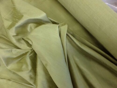 Montgomery Lime Silk Fabric Sold By The Metre