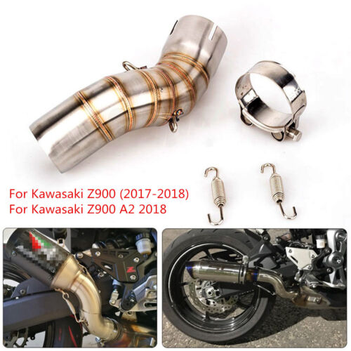 Motorcycle Exhaust Pipe Stainless Steel Middle Link for Kawasaki Z900 2017-2018
