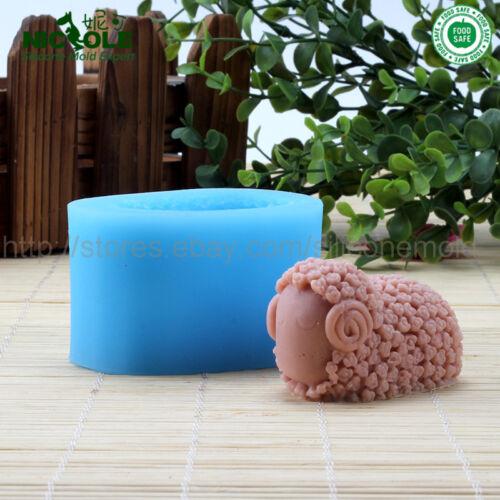 Moldes de jabón Barra de silicona Nicole ovejas forma Pastel Fondant Moldes Moldes De Vela