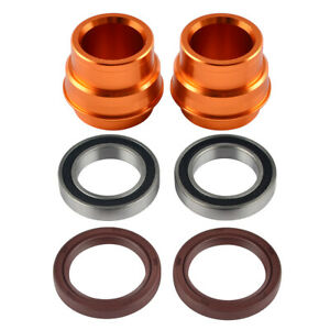Front Wheel Spacers Bearings Seals For KTM 250 350 450 SXF 300 500 XCW EXC 16-19