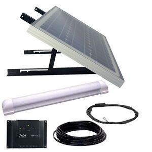 Solar Panel Light Kit 30w 12v Led Lamp