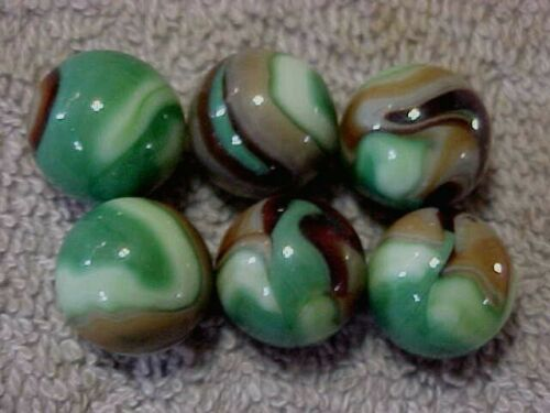"""6  HTF 5//8/""""  HAND SELECTED JABO CLASSIC  MARBLES  $5.99   LOT WVS1"""