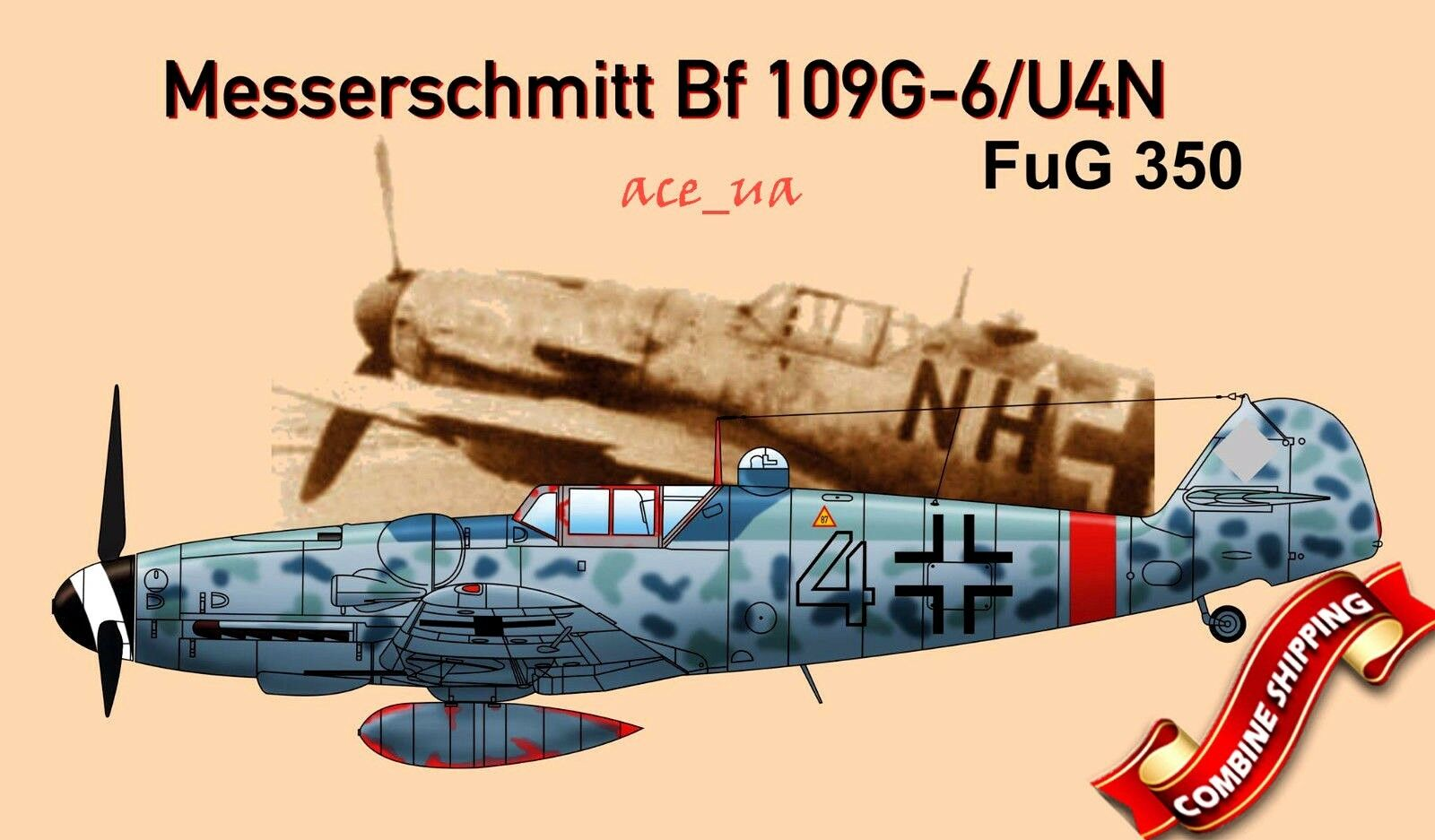 AMG 48701 Messerschmitt Bf 109G-6 U4N FuG 350 ( w Resin Parts ) Plastic Kit 1 48