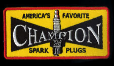 Champion Patch Automotive Mechanic Hot Rod Drag Race Spark Plugs