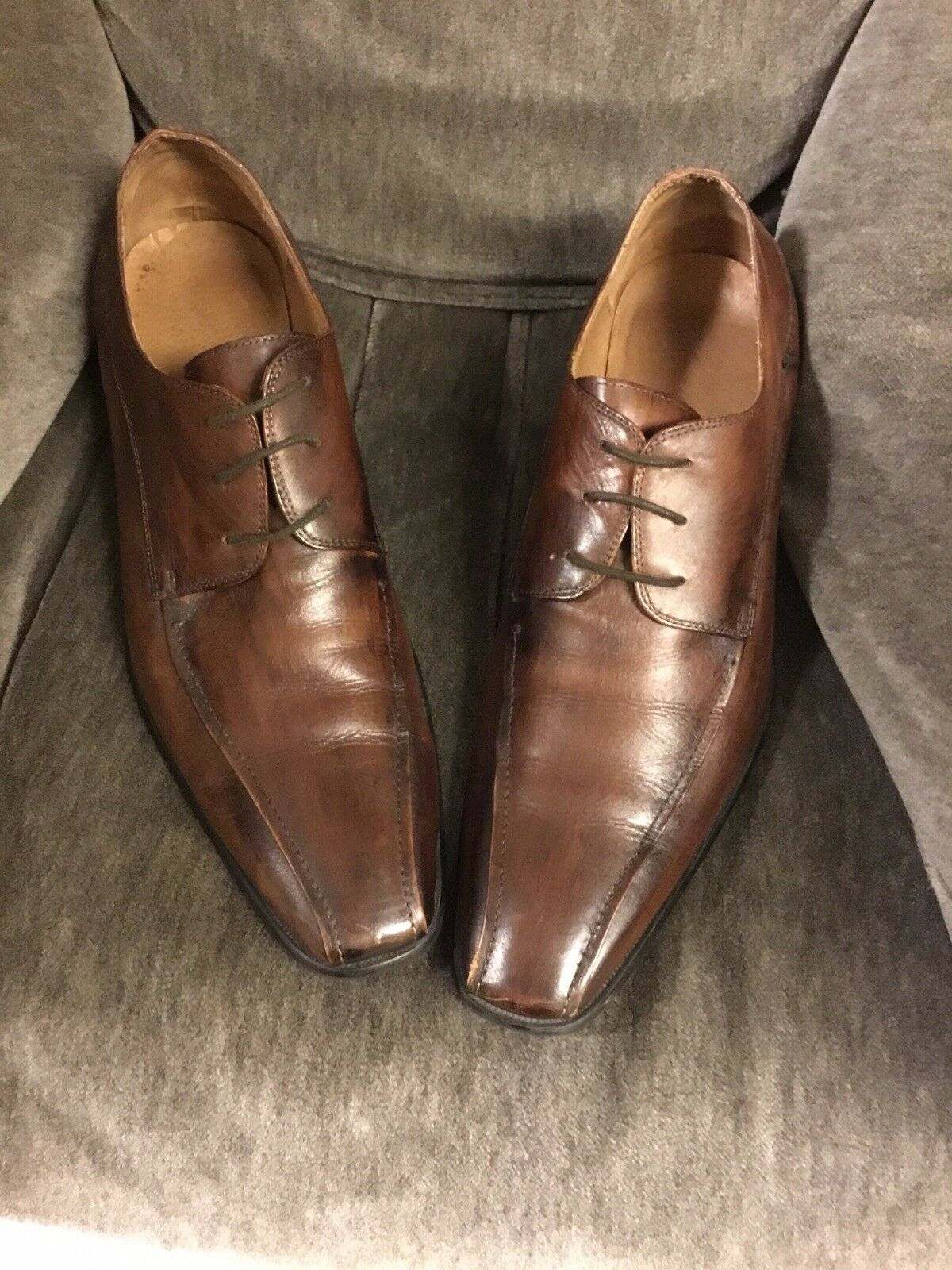 Men's leather Kenneth Cole shoes size 13