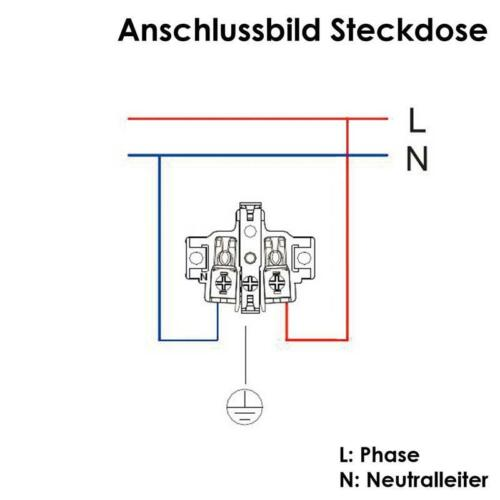 250V~ IP44 Aufputz Kombi Schalter Steckdose vertikal Feuchtraum AP grau