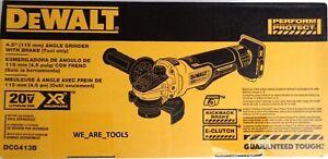 "NEW IN BOX Dewalt DCG413B 20V 4 1/2"" Brushless Grinder W Brake Brake 20 Volt MAX"