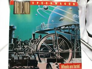 REO Speedwagon ~ Wheels Are Turnin' ~ 1984 Epic QE 39593 ~ VG+ cover VG+