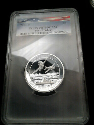 *SALE* 2016 Tuvalu 5 oz Silver Pearl Harbor Proof *HIGH QUALITY PROOF SILVER*