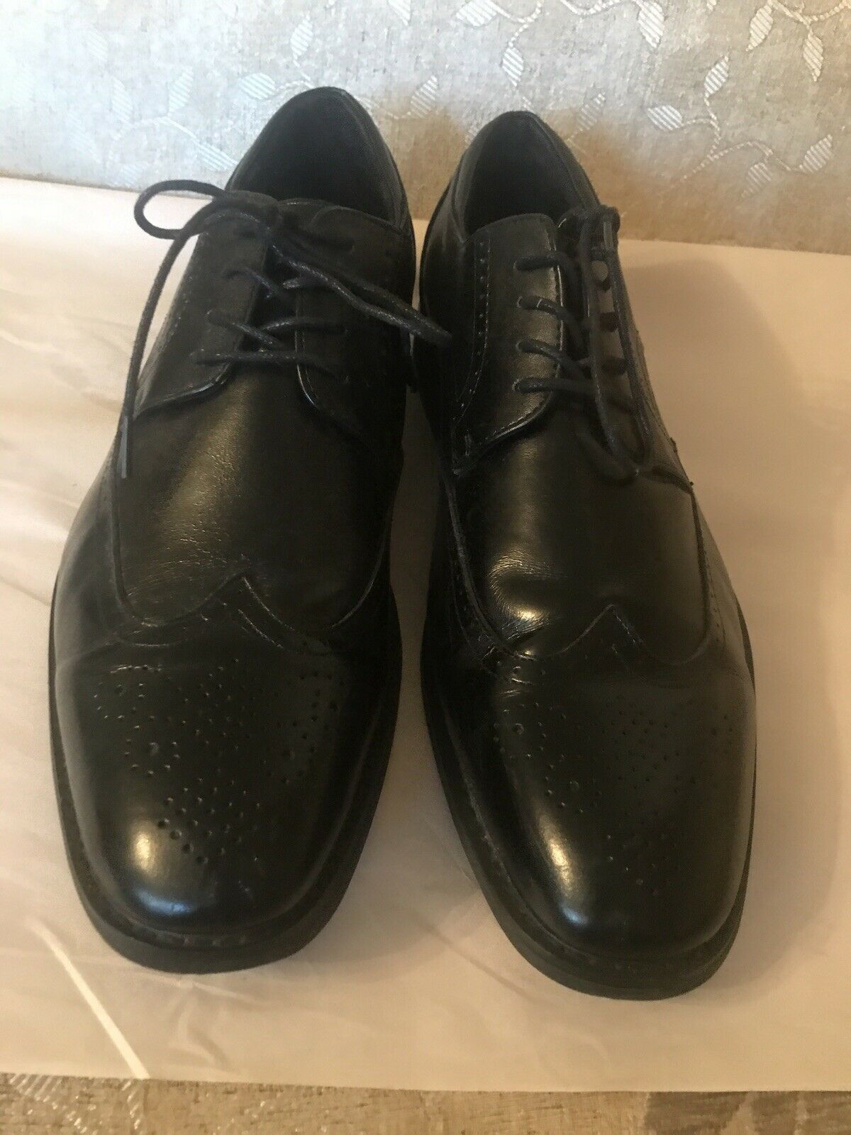 Joseph Abboud Men's Black Leather Cap Toe Oxford Dress Casual Shoes Size 11.5