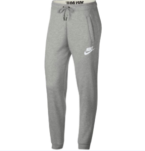 Details about NWT NIKE RALLY JOGGER PANTS Women's Sweatpants GREY Just do  it band XS-XL cuffed