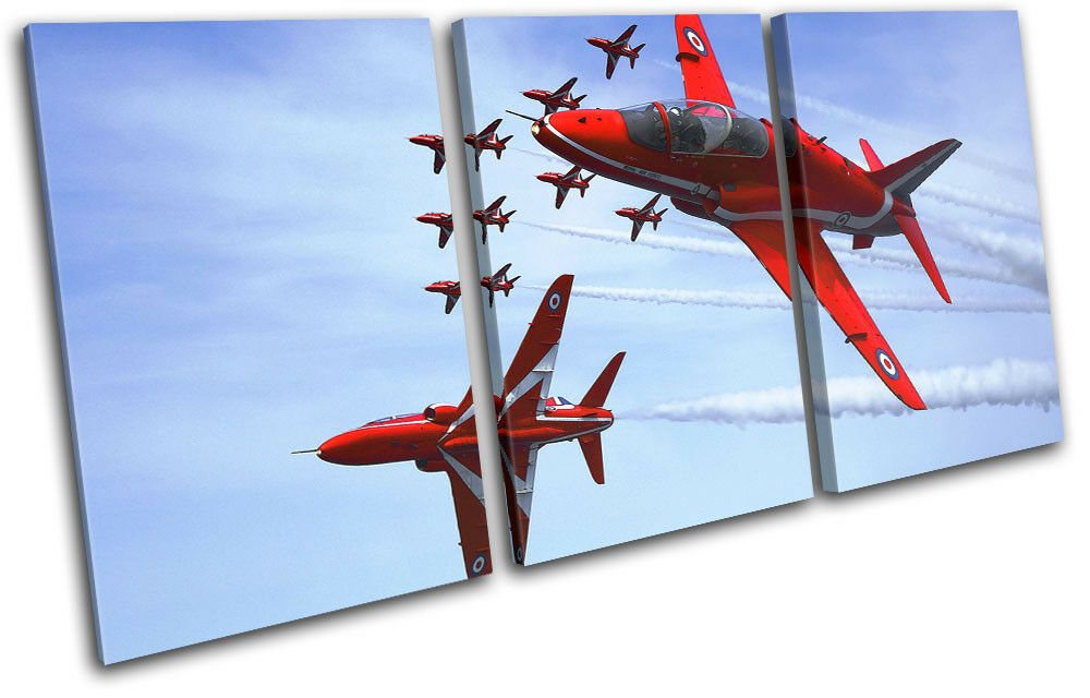 RAF RAF RAF Planes rosso Arrows Transportation TREBLE TELA parete arte foto stampa eb18e6