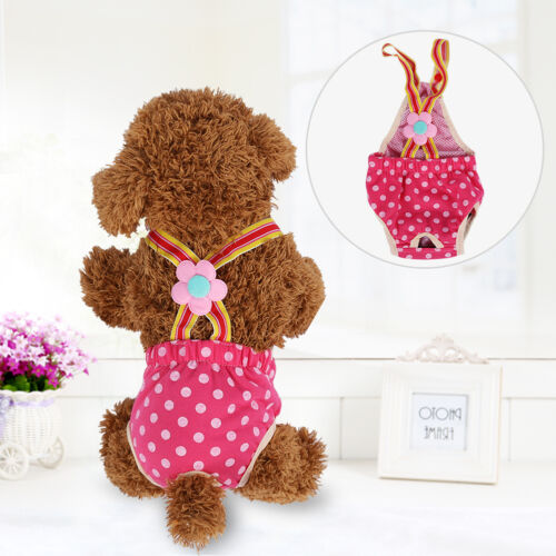 Pet Dog Nappy Puppy Travel Dot Diapers Underwear Female Sanitary Strap Pants HG