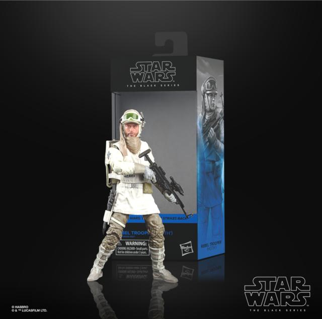 "HASBRO STAR WARS THE BLACK SERIES #03 Hoth Rebel Trooper 6"" NIB"