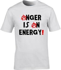 Politique-T-Shirt-Homme-Anarchy-la-colere-est-une-energie-PUBLIC-IMAGE-LTD-Style-Punk