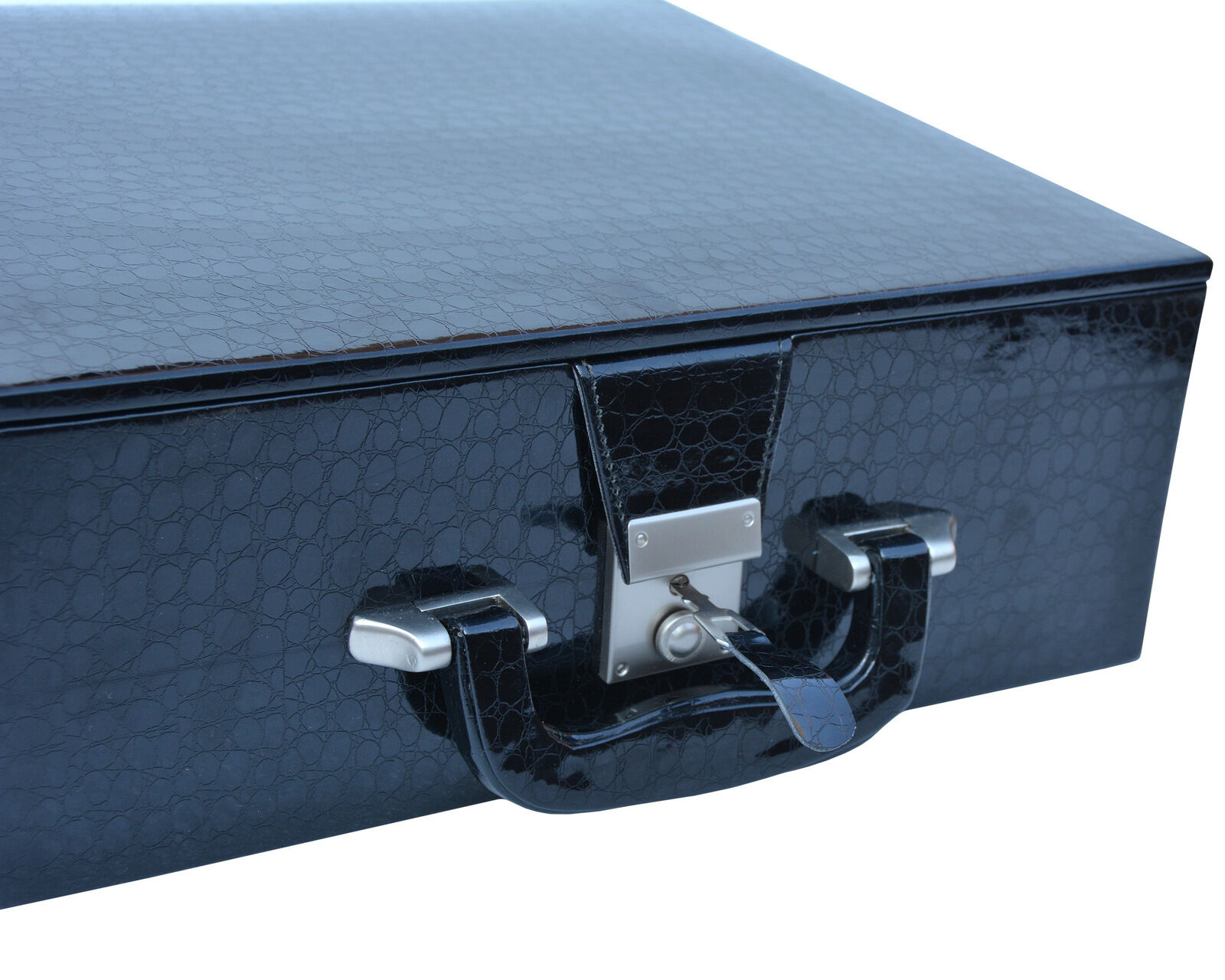 Leatherette storage box with Hi-Gloss Crocodile Pattern Finish for 3.6  - 4.1