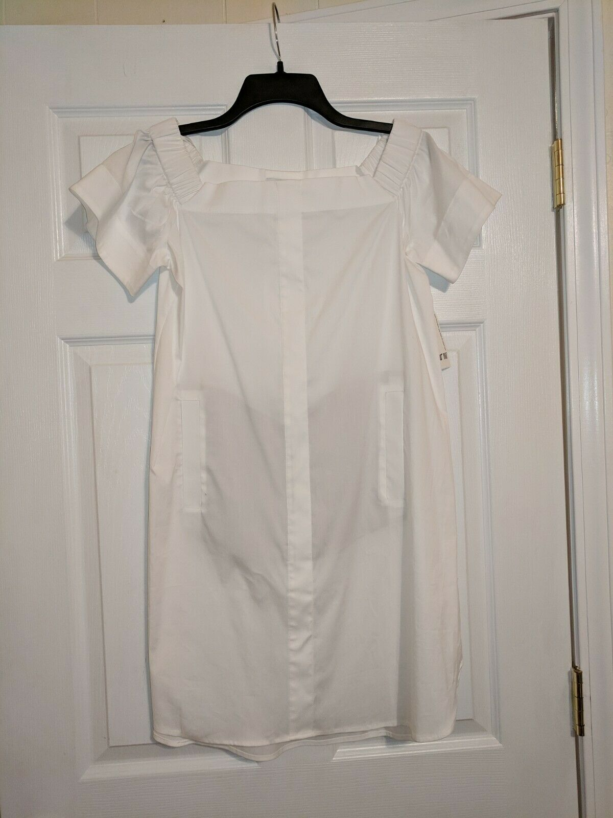 Bar III Macy's White Off Shoulder Dress Size S Small
