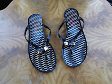 cbbcbb72b939d Buy Coach Landon Jelly Flip Flops Size 6 Sandals Black   Black Milk ...