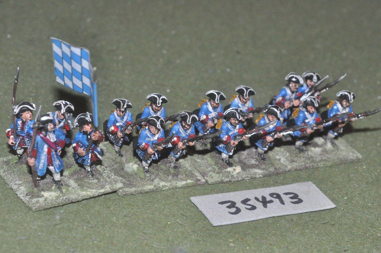 25mm marlburian   bavarian - regiment 16 figures - inf (35493)