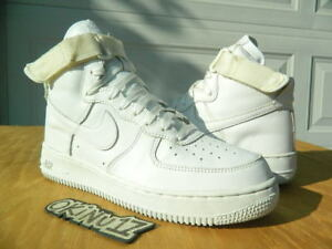 sale retailer e3f8a e9270 Details about RARE 2002 Nike Air Force 1 High White/White Strap 10 AF1  supreme sheed sb dunk v